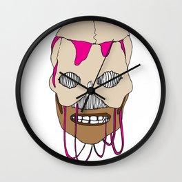 Skull Head Street Art Design Wall Clock