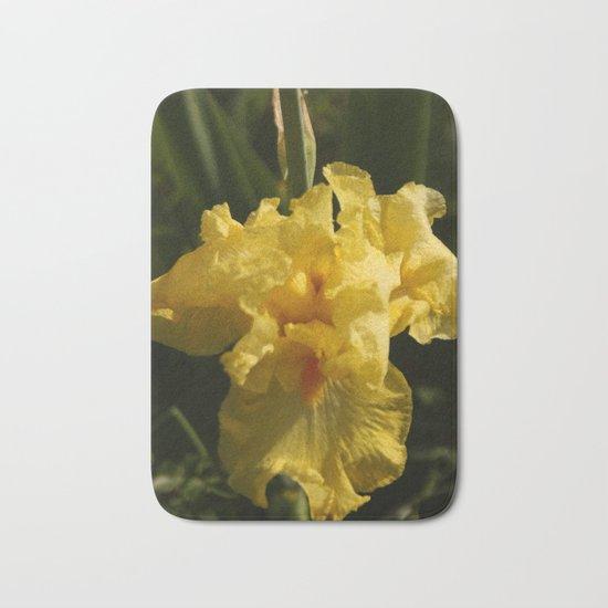 Iris - Yellow Bath Mat