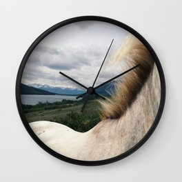 Horse Back Wall Clock