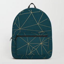 Benjamin Moore Hidden Sapphire Gold Geometric Pattern Backpack