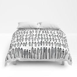 Paper Clip People Comforters