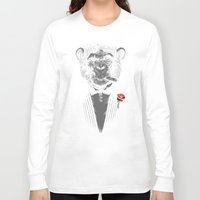 monkey Long Sleeve T-shirts featuring Monkey Business by Alex Solis