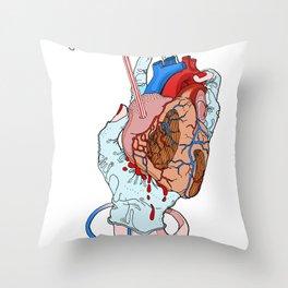 fresh heart Throw Pillow