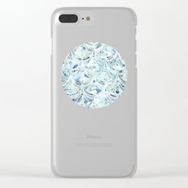 Ice and Diamonds Art Deco Pattern Clear iPhone Case