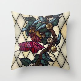 Moth Emergence Throw Pillow