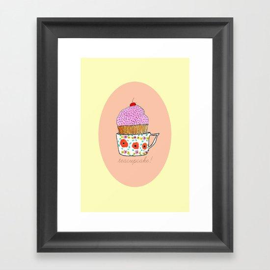 Teacupcake! Framed Art Print