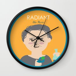 Radiant like Marie Curie Wall Clock