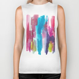 180812 Abstract Watercolour Expressionism 12 | Colorful Abstract | Modern Watercolor Art Biker Tank