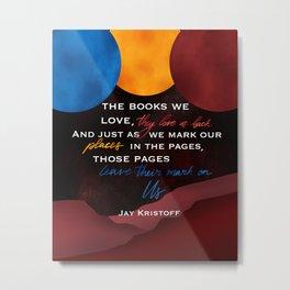 The Books We Love Metal Print