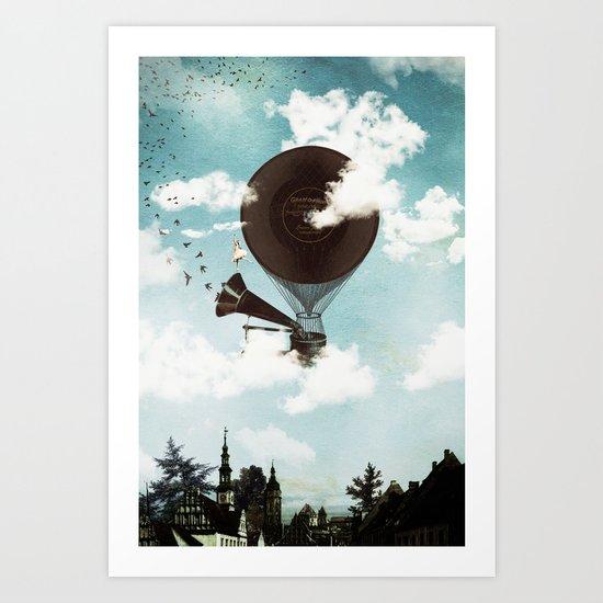 Swan Lake Up in the Air Art Print