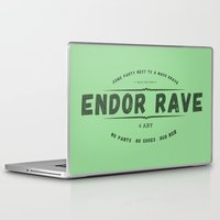 rave Laptop & iPad Skins featuring Endor Rave by Messypandas