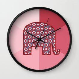 Republican Reds Wall Clock