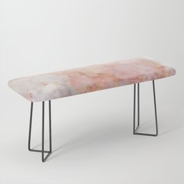 Beautiful Pink and Gold Ombre marble under snow Bench