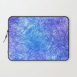 Minimalist Blue Watercolor Design Laptop Sleeve