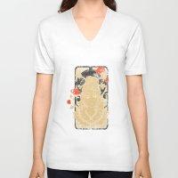 art nouveau V-neck T-shirts featuring Art Nouveau by Tshirt-Factory