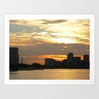 Charles River Sunrise Photo 1 Art Print
