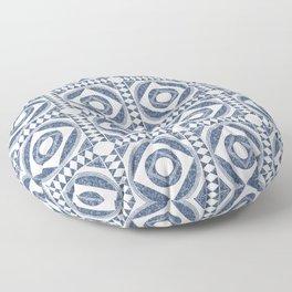 Mediterranean Tile Blue and White Floor Pillow