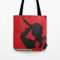 psycho Tote Bags featuring Psycho  by Geminianum