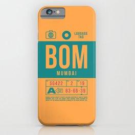 Baggage Tag B - BOM Mumbai Airport India iPhone Case