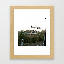 Salida de Socorro Framed Art Print