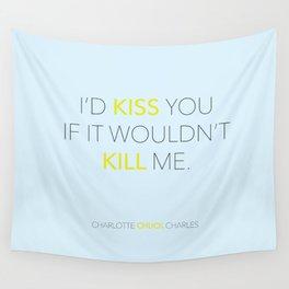 I'd Kiss You - Pushing Daisies Wall Tapestry