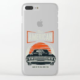 American Motorworks Vintage Muscle Car Clear iPhone Case