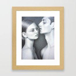 Est-ce que tu m'aimes? Framed Art Print