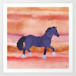 Cool Horse in a Hot Climate Art Print