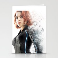 black widow Stationery Cards featuring Black Widow by NKlein Design