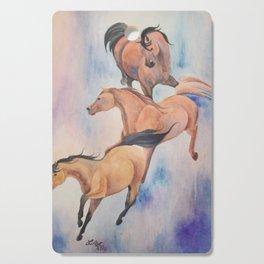 Cascade of Mares Wild Arabian Horses Cutting Board