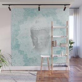 Tibetan Dream Blue White Buddha Mandala Wall Mural