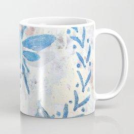 Honey Bee Wreath Blue Farmhouse Country Rustic Coffee Mug
