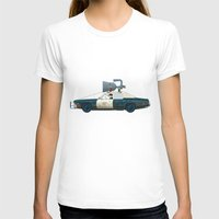 blues brothers T-shirts featuring The Blues Brothers Bluesmobile 1/3 by Staermose