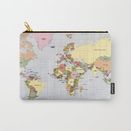 Map of The World with Countries (1987) Carry-All Pouch