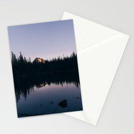 Dark No Name Lake Stationery Cards