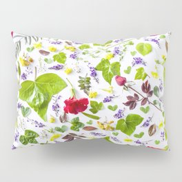Leaves and flowers pattern (27) Pillow Sham