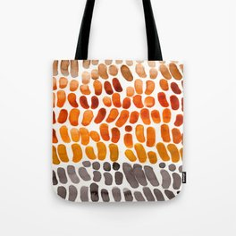 Yellow Ochre Brown Dark Brown Fall Autumn Color Palette Natural Patterns Colorful WatercolorAbstract Tote Bag