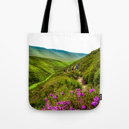 Snakes Pass Flowers. Tote Bag
