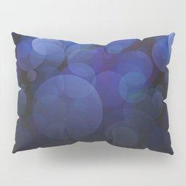 Blue Circles abstract design Pillow Sham