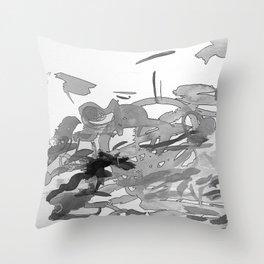 ink splotches Throw Pillow