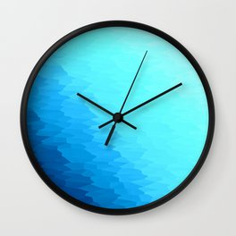 Turquoise Blue Texture Ombre Wall Clock