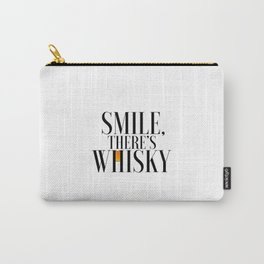 Happy Poster Whiskey Bar Decor Whiskey Poster Whiskey Art Whiskey Cocktail Smile there's Whiskey Carry-All Pouch