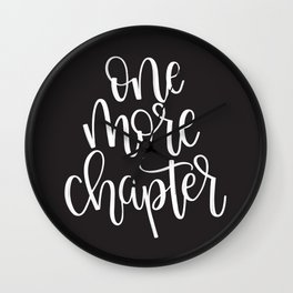 One More Chapter (Black) Wall Clock