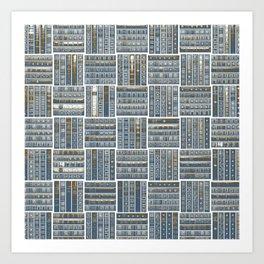 The Bookish Checkerboard Art Print