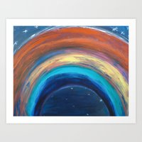 If You Are Afraid of the Dark, Remember the Night Rainbow Art Print