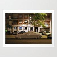 porsche Art Prints featuring Porsche by Adam Kencki
