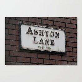Ashton Lane, West End, Glasgow Canvas Print