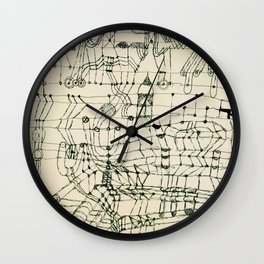"""Paul Klee """"Drawing Knotted in the Manner of a Net"""" Wall Clock"""