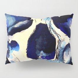 Blue Skull Pillow Sham