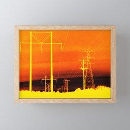 Electric orange Framed Mini Art Print